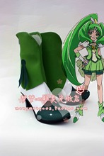 Smile Pretty Cure Midorikawa Nao Green Girls Adult Cosplay Shoes Boots(China)