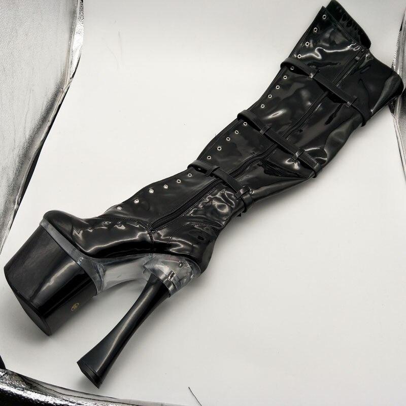 012 7 the Pouce Laijianjinxia Haut Bottes Noir Femmes De 18 a004 Over Talon Partie Boot Sexy Dames genou Stretch Royales Plate Cm Classique A forme vmN0nw8