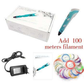 DEWANG-Bolígrafo de impresión 3D, filamento de ABS/PLA de 200M, bolígrafo para regalo...