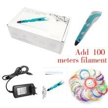 DEWANG Scribble Pen 3D Pen 100M ABS Filament 3D Printer Birthday Gift ABS 3D Printing Pen for School Gadget 3D Pencil Creativity