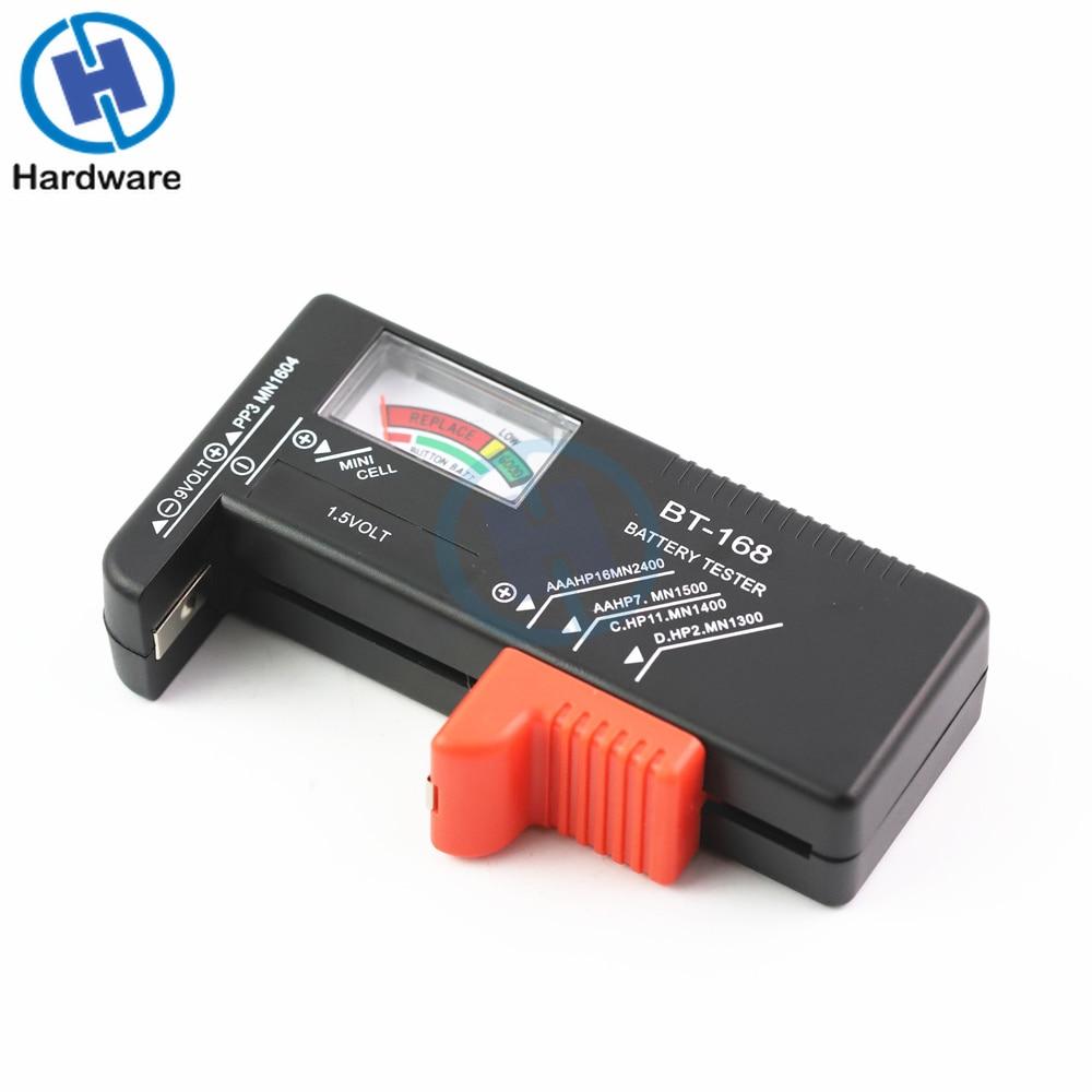 BT168 Portable Universal Digital Battery Tester Volt Checker For AA AAA 9V Button Multiple Size Battery Tester Checker