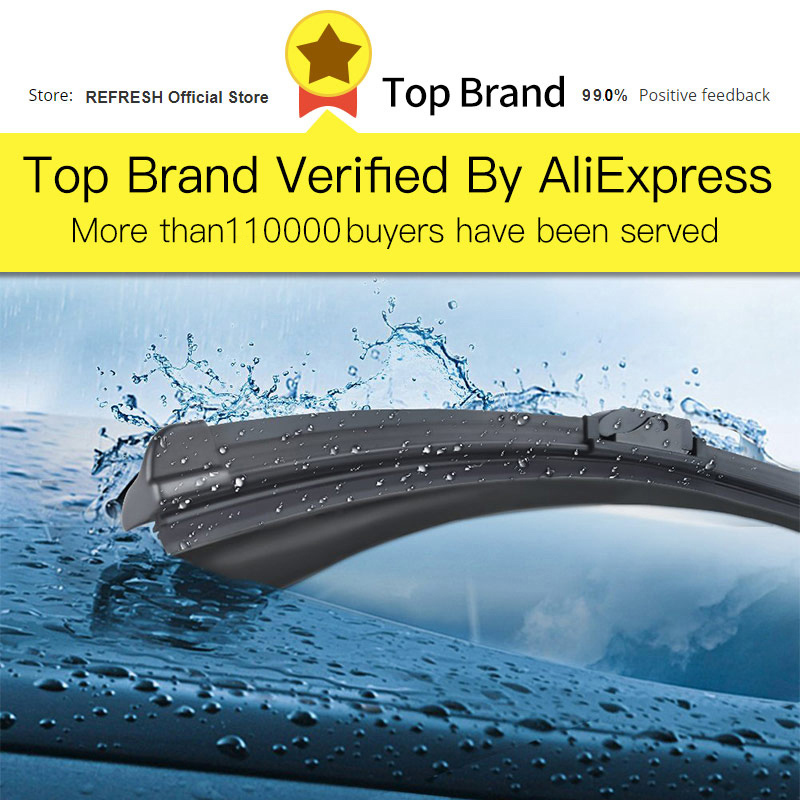 Image 2 - REFRESH Windscreen Hybrid Wiper Blades for Suzuki SX4 / SX4 S Cross Fit Hook Arms Model Year from 2006 to 2018-in Windscreen Wipers from Automobiles & Motorcycles