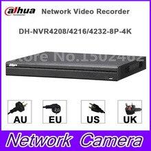 Original Dahua English version 4K NVR NVR4216-16P-4KS2 NVR4232-8P-4KS2 H265 H264 16POE ports