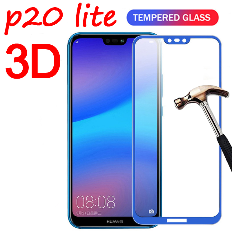 3D Full Cover Protector <font><b>Glass</b></font> For <font><b>Huawei</b></font> <font><b>P20</b></font> Lite <font><b>P20</b></font> Pro Screen Protective <font><b>Glass</b></font> For <font><b>Huawei</b></font> <font><b>P20</b></font> Lite P20Lite Tempered Film Glas image