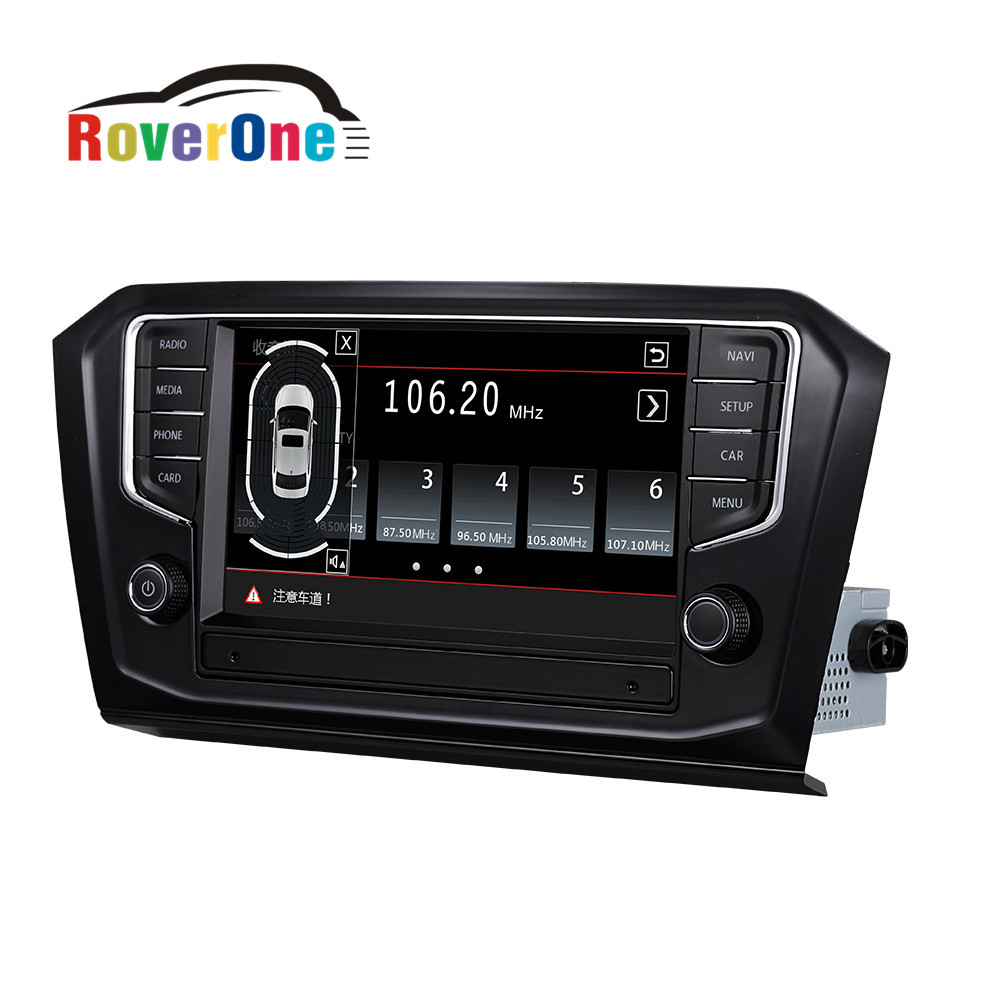 For vw passat b8 for volkswagen original mib system autoradio gps stereo ops steering