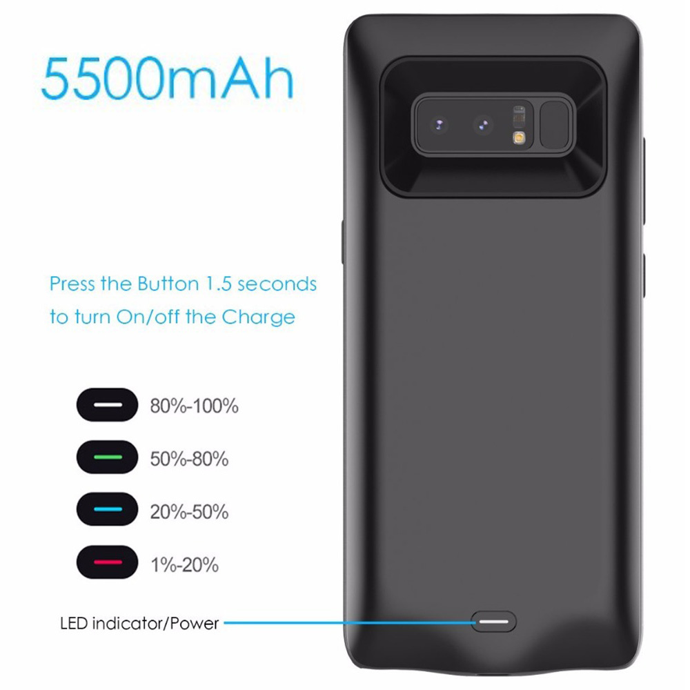 huge discount 1782b 6c7b3 US $22.97 20% OFF|Battery Charger Case For Samsung Galaxy Note 8 Battery  Case Power Bank Pack External Charger Cover Note8 Charge Backup Extra-in ...