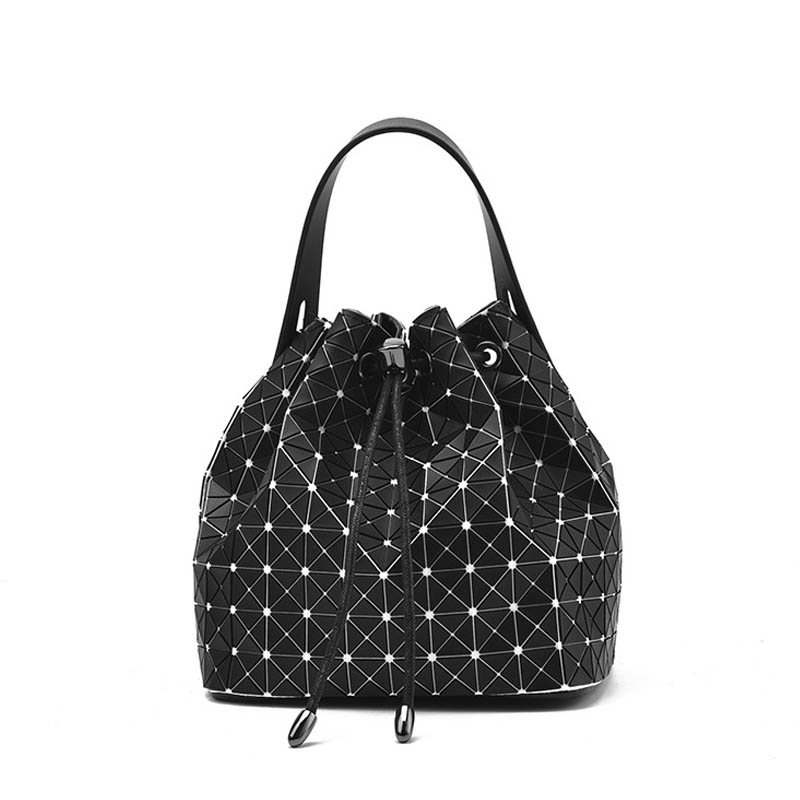New Handbags Women Messenger Bag Black Colors Diamond Women Bucket Shoulder Bag Geometry Sequins Mirror Plain Folding Bags карабин black diamond black diamond rocklock twistlock