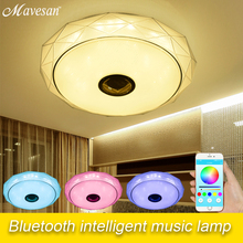 LED Music Ceiling Lights with Bluetooth speaker & colorful modern Led ceiling lamp for Home party