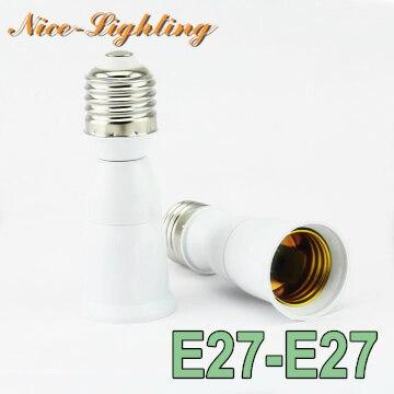 10pcs/lot E27-E27 Lamp Holder Converter 95mm Screw Socket E27 to E27 Lamps Holder Adapter Light Bulb Plug Extender Free Shipping
