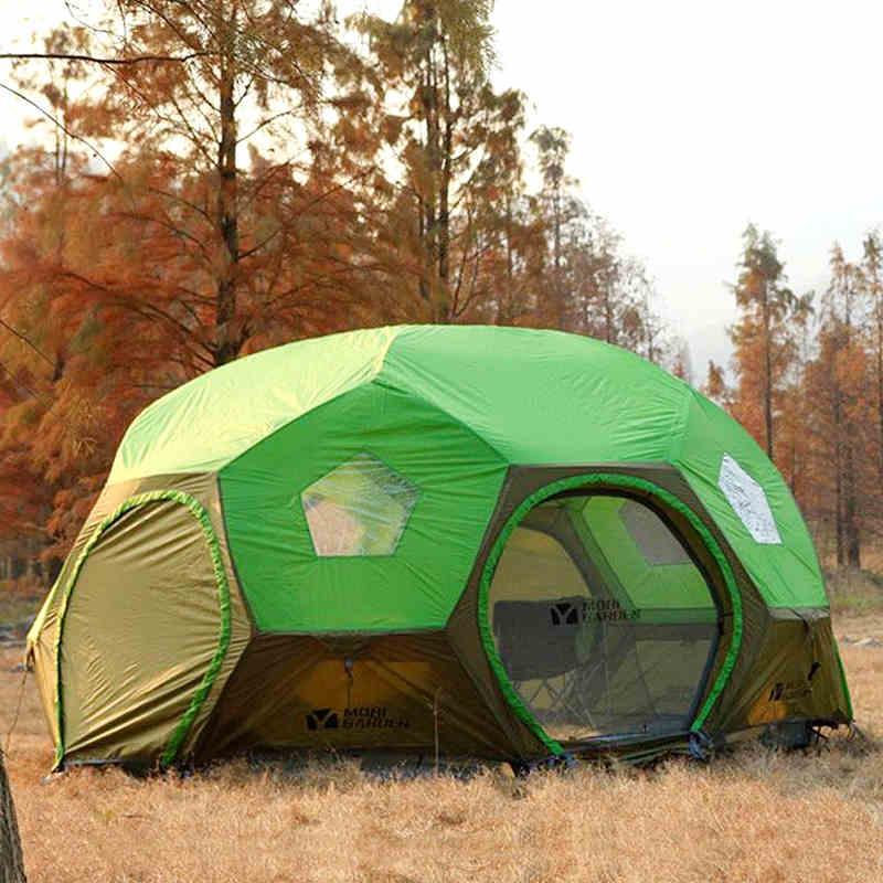 Mobi Garden 5-8 personnes poteaux en aluminium Ultralarge sphérique étanche confortable belle tente de Camping grand Gazebo