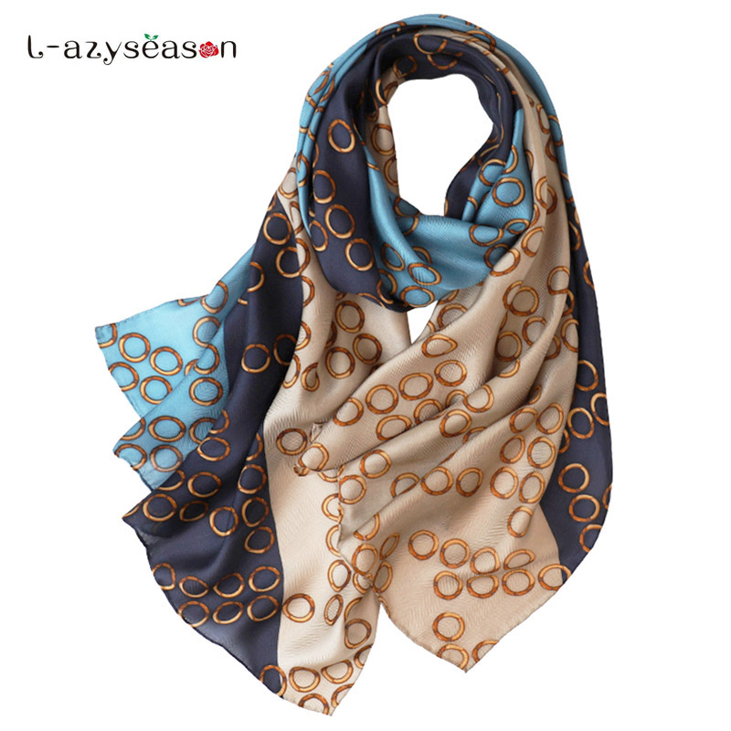 2019 new Fashion winter hijab head   Scarf   women luxury brand autumn long silk   Scarves     wraps   foulard femme shawl