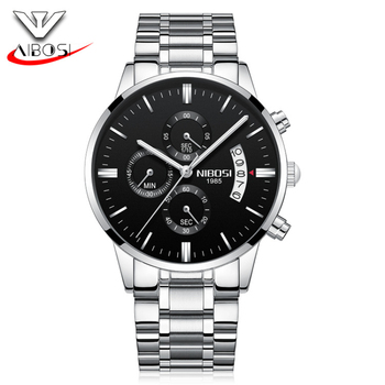 Mens Watches Top Brand Luxury Military Luminous Casual Quartz Wristwatch Fashion Chronograph Steel Waterproof Watch Reloj Hombre