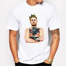 8fe151a3 King Conor McGregor MMA Champion t shirts hip hop men tee shirt new  masculina fashion male t shirt Brand clothing 73-4#
