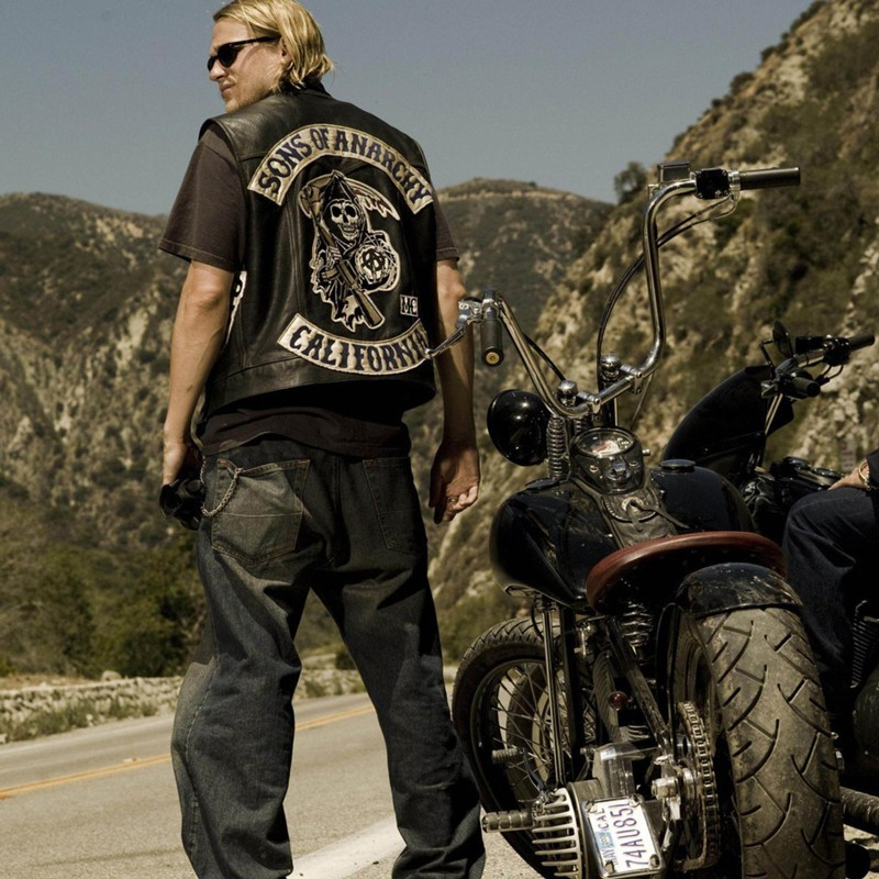 Sons of Anarchy Sleeveless Jackets Men Fashion Design