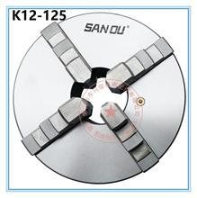 цена на K12-125 4 Four Jaw Lathe Chuck with Self-Centering M8
