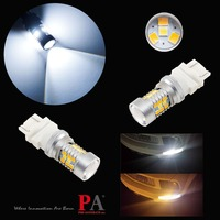 PA LED 2pcs x Dual Color Switchback 28SMD LED Brake Tail Light BulbDRL Direction Light 3156 3157 White Yellow Color