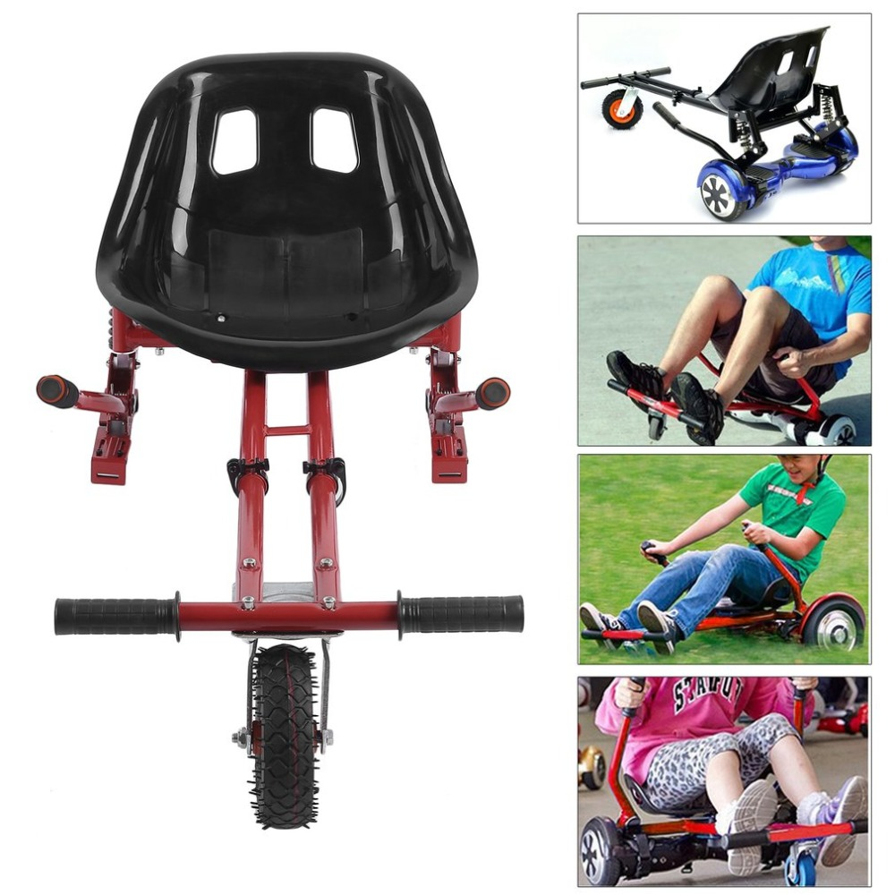 Shock Absorber Go Kart Adjustable Hover Seat HoverKart For Swegway Hoverboard Accessories Electric Scooter For Adults Kids koowheel 2 wheel electric scooter self balance hoverboard skateboard hoverseat go kart hoverkart safety walk car for hover board