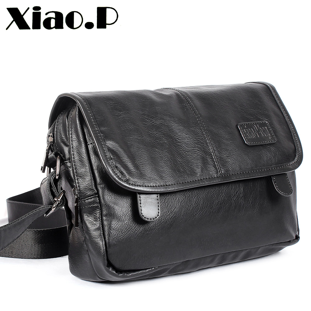 New design men's bags, High quality pu leather messenger bag,Fashion cross body bag,Casual students one shoulder School bag