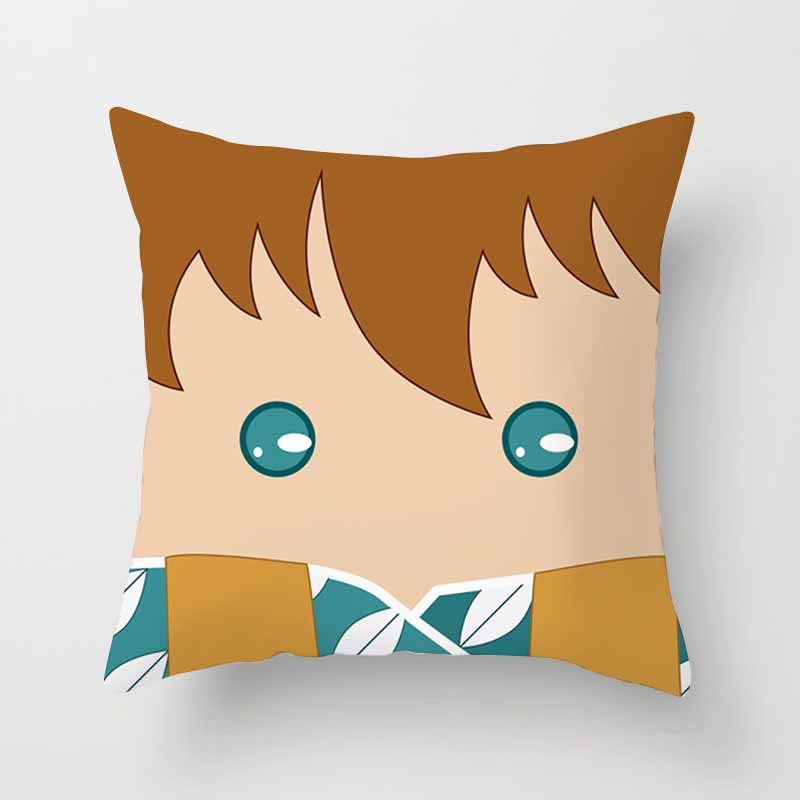 Hot sale beautiful cartoon boys with bowknot patterns women men Pillow case boys girls weeping pillow cover size 45 45cm in Pillow Case from Home Garden