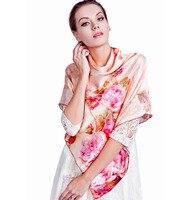 2014 Digital Print 100 Mulberry Silk Scarf 110 110CM Large Facecloth Female Scarf D5