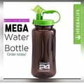 Herbalife Nutrition Mega Half Gallon 64oz  Shake Sports Water Bottle Tritan Plastic  Black with Green Lid Herbalife 24 Fit Club