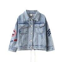 [Bosudhsou] zj 1 4 13Y Children Spring Outerwear & Coats Kids Unicorn Jacket Girl's Clothing Boutique Denim Outfits