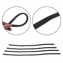 "1Pc Hot  Universal Auto Car Vehicle Refill Soft Rubber 8mm Frameless Wiper Blade Replace Black Rubber 18"" 22"" 24"" 26"" Length C45"