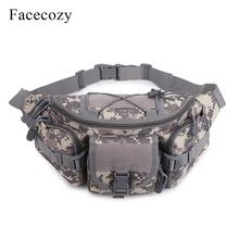 Facecozy Men Multi-pocket Military Tactical Waistbag Camouflage Sports Waist Pack Outdoor Camping Trekking Practical Chest Bags
