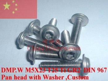 Титан винты M5X22.5 DIN 967 T25 драйвер Ti GR2 полированный 10 шт