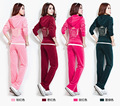 With Free Shipping Women Brand Velvet tracksuits, velor Women's suits, tracksuits , hoodies sweatshirt and pants