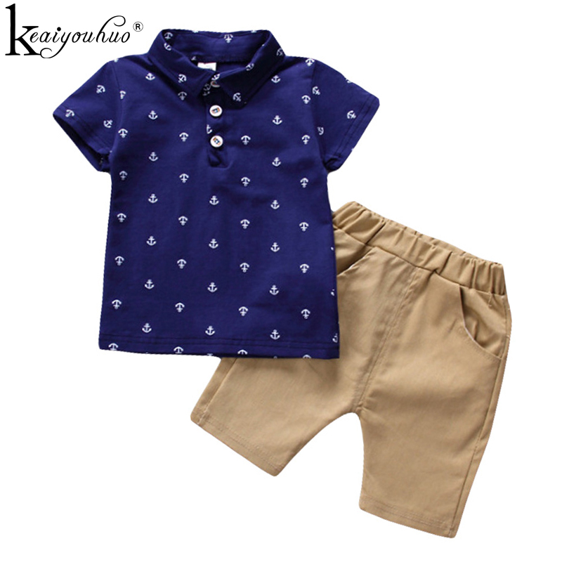 Kids Clothes Sets 2018 Toddler Boy Summer Clothes Short Sleeve T-shirt+Shorts Baby Boys Clothes 12 3 4 5 Years Children Clothing kids clothes 2018 summer children clothing girls unicorn suits baby girl clothes sets short sleeve t shirt tutu skirt