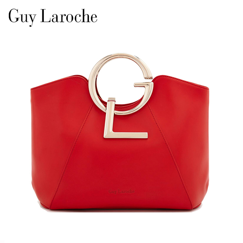 Guy Laroche Women S Handbag Fashion Metal Leather Bag Handle Red Gw1824482 In Clutches From Luggage Bags On Aliexpress Alibaba Group