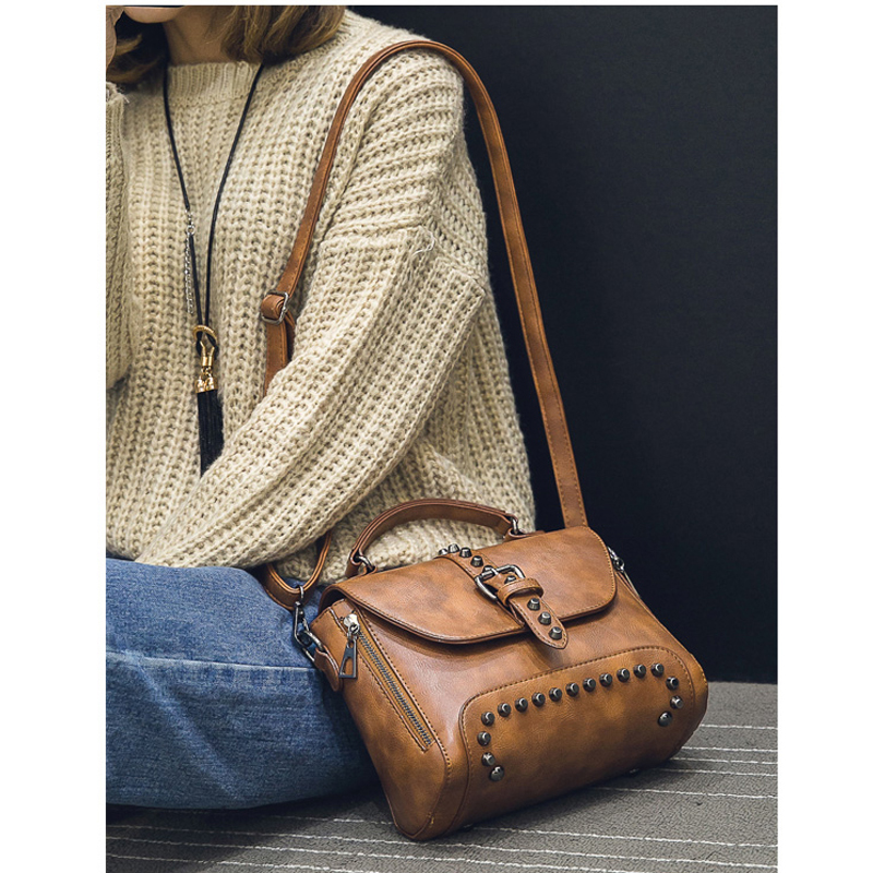 2019 Nuevas Mujeres Messenger Bags Vintage Bag Ladies Crossbody Bolsa - Bolsos - foto 6