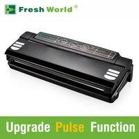 Automatic Vacuum Food Sealers With Free Bags Pulse Function Black Household Best Vacuum Bag Sealer Packaging Machine 220v 110v
