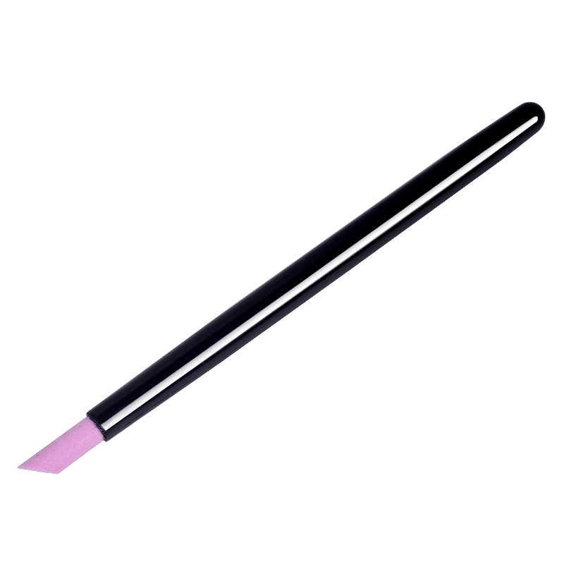 YZWLE 1pc 白黒スクラブペン爪ツールクォーツ爪ペンネイルアート彫刻ペンブラシアクリルハンドルサロンツール 2019 新