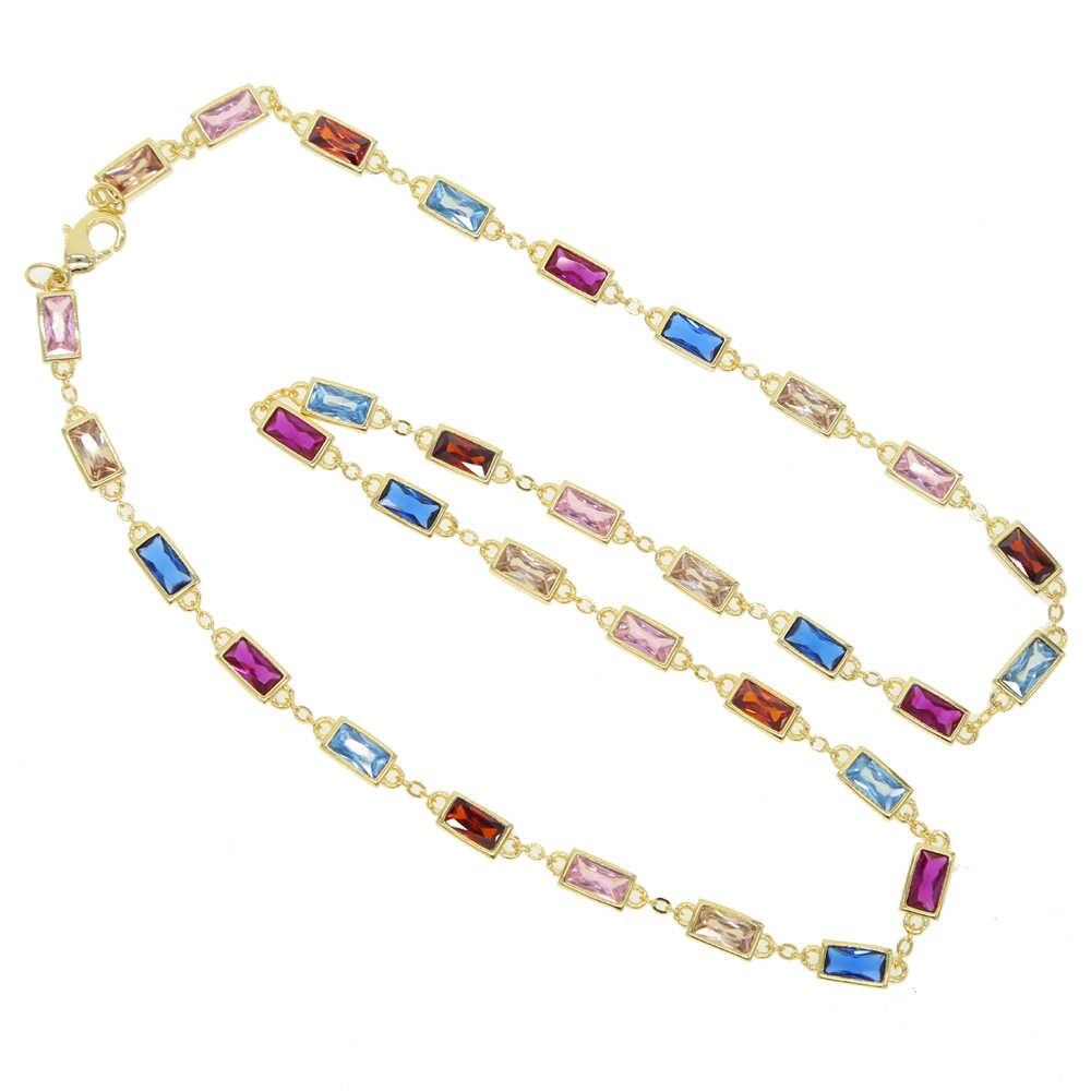 Najnowszy!!! Gorące lato w stylu Vintage naszyjniki wielokolorowa cyrkonia sześcienna duży okrągły naszyjnik dla człowieka kobieta moda biżuteria prezent