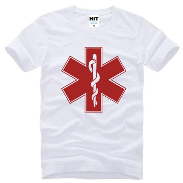 Brand Clothing EMT Printed T Shirt Men Summer Short Sleeve O-Neck Cotton Men's T Shirt Emergency Medical Technician Male Top Tee