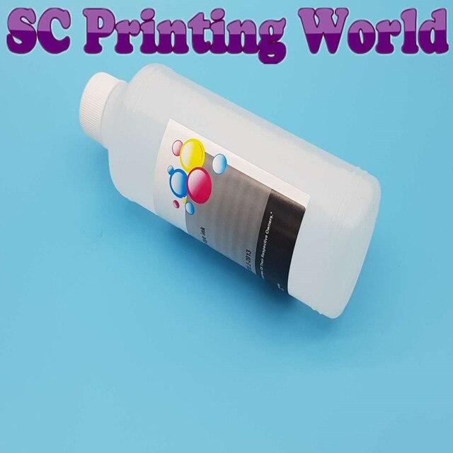 DTG Tinta Tekstil Cairan Pembersih untuk Epsonfor Roland untuk Mimaki untuk Mutoh Printer Printhead dan Tube Cleaner Solusi Fluid 500 ml