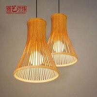 Люстры ресторанов японский татами спальня новый китайский бамбук ткачество украшения освещения лампы и фонари