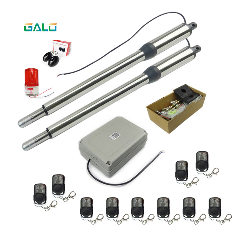 Swing Gate Opener Access Control Automation System Remote control turned on 50m ,Remote control amount optional control