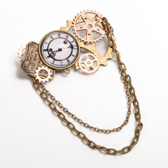 1pc Steampunk Brooch Badges