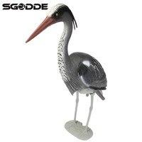 リアルな大型プラスチック樹脂狩猟おとりヘロン庭飾り鳥かかし鳥発信者魚池鯉鯉タックル狩猟商