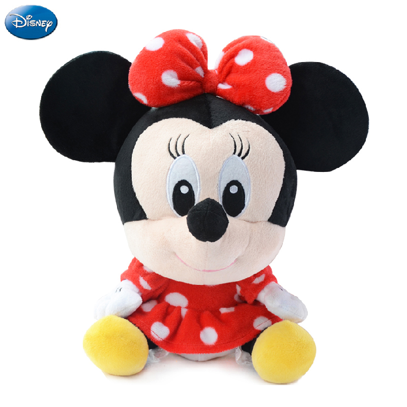 Genuine Disney Mickey Mouse Minnie Mouse Cotton Kawaii Plush Stuffed Animal Toys Doll Christmas Gift Toys for Baby Girls Kids