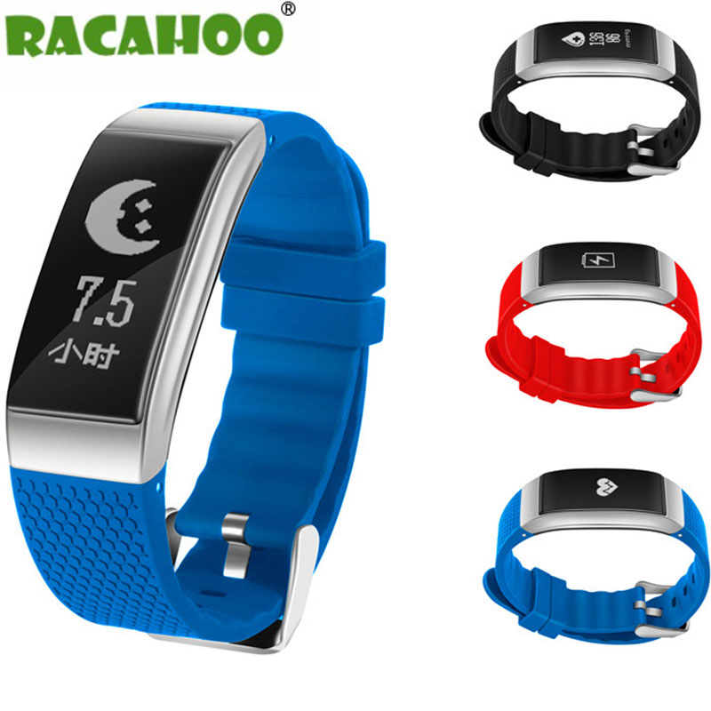 RACAHOO Smart Bracelet Waterproof IP68 ECG Heart Rate Blood Pressure Sleep Monitoring Pedometer Fitness Bluetooth Wristband a09 ble4 0 heart rate blood pressure monitoring smart bracelet blue