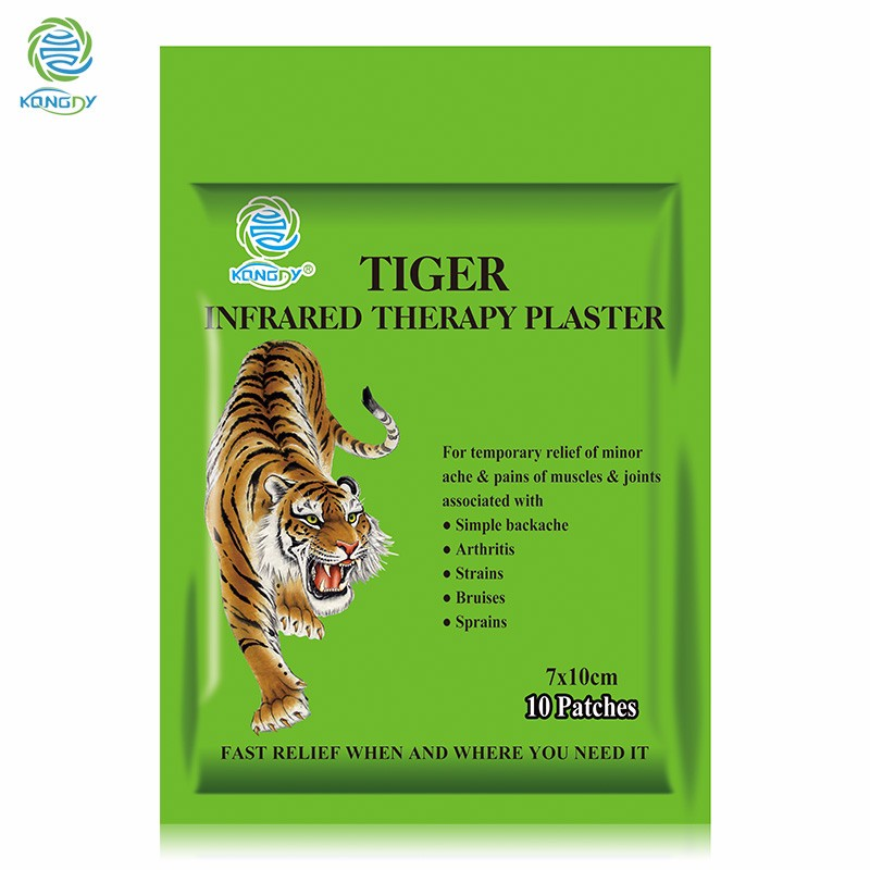 30 Pieces/3 Bags Tiger Balm Plaster 7*10 cm Transdermal Back Pain Patch Herbal Pain Relieving Patch Zipper Bag Muscle Massage
