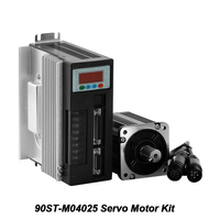 1KW 220V Servo Motor Kit 90ST M04025 Single Phase 4N.m Motor Machine Matched Permanent Drive With 3M Encoder Motor Cable