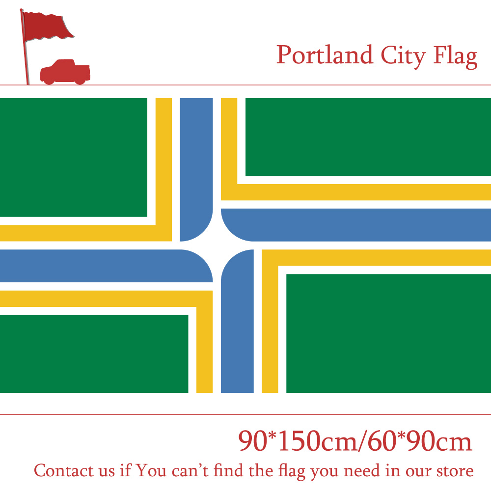 Free shipping Portland City Flag Of Oregon State 60*90cm 90*150cm 3x5ft Banners 100d Polyester For Home Decoration