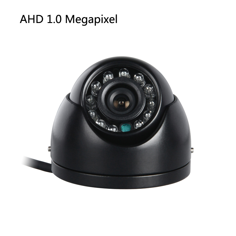 Mini AHD 1.0MP Car CCD Camera Indoor IR Night Vision Parking assistance Truck Bus Vans Taxi Vehicle for Surveillance Security ahd 1 0mp dual cam ir night vision waterproof rear view parking backup reversing camera for vehicle truck bus vans surveillance
