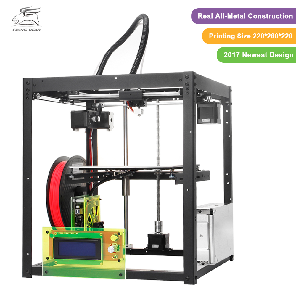Free shiping Flyingbear P905 DIY 3d Printer kit Full metal Large printing size High Quality Precision