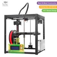 Free shiping Flyingbear-P905 DIY 3d Printer kit Full metal Large printing size High Quality Precision Makerbot Structure Gift
